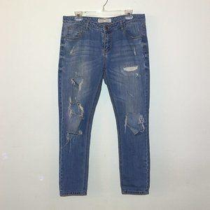 Cotton On Distressed Boyfriend Jeans-